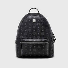 MCM MEDIUM STARK STUDDED BACKPACK - BLACK