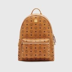 MCM MEDIUM STARK STUDDED BACKPACK - COGNAC