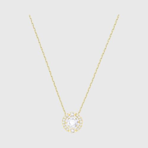 SWAROVSKI Sparkling Dance Round Necklace, Gold plating