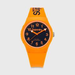 SUPERDRY URBAN系列表款 38MM (黑色x橙色) 石英表机芯