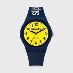 SUPERDRY URBAN系列表款 38MM (深蓝色x黄色) 石英表机芯