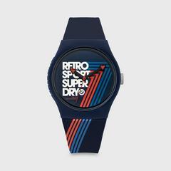 SUPERDRY URBAN RETRO系列表款 38MM (蓝色) 石英表机芯