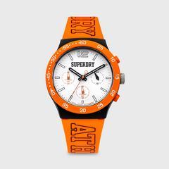 SUPERDRY URBAN ATHLETICS CHRONO 系列表款 40MM (白色x橙色) chronograph