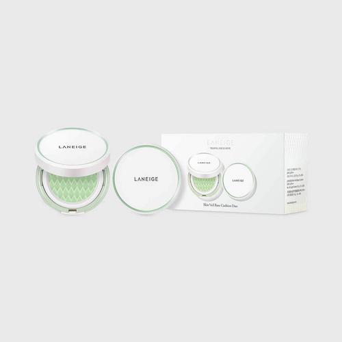 LANEIGE Skin Veil Base Cushion SPF22 PA++ Duo Set (Two sets of 15g x 2) - No.60 Light Green