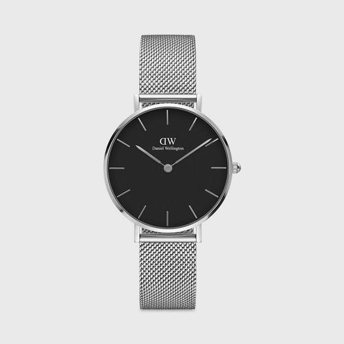 Daniel Wellington Sterling 32mm Silver Black Dial