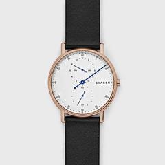 诗格恩(SKAGEN)Signatur皮质表带单针手表 40毫米