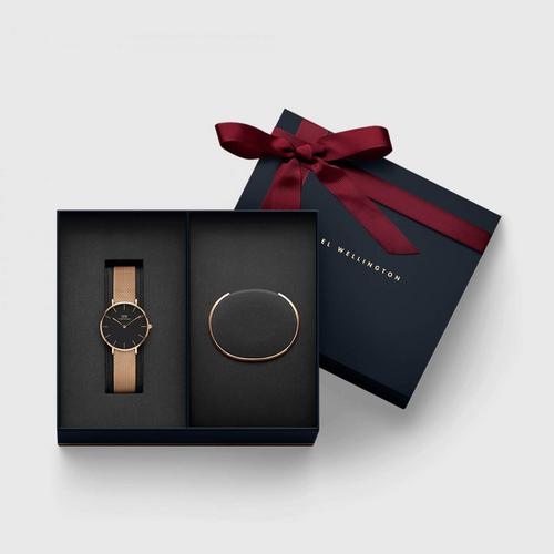 Daniel Wellington Holiday Combo Set | Classic Petite 32mm Melrose +Classic Cuff