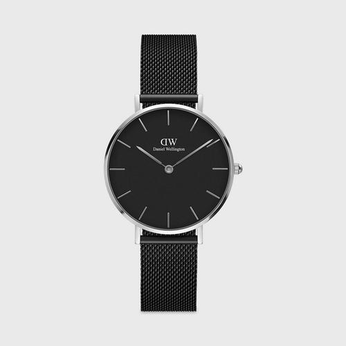 Daniel Wellington Ashfield 32mm Silver Black Dial