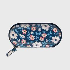 凯茜•琦丝敦(Cath Kidston)全拉链海岛之花印花眼镜盒-海军蓝
