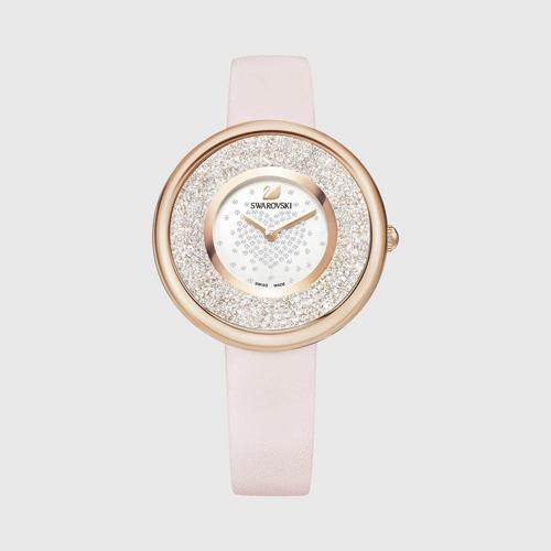 SWAROVSKI Crystalline Pure Watch, Leather strap, Rose gold tone 粉紅色