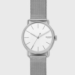 诗格恩(SKAGEN)Falster钢制网格表带全自动手表 40毫米