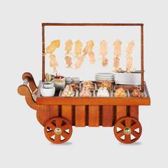 PRONPUN Miniature Push Cart - Grilled Meatballs & Roasted Squid