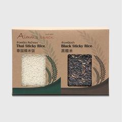 AIMM'S SNACK THAI STICKY RICE & BLACK 1 KG.