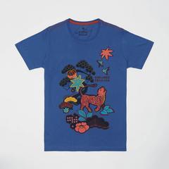 Voyage of Style 泰国萨瓦斯德 短袖圆领 T恤 蓝色  S码
