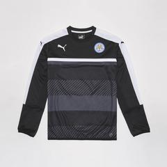 莱切斯特城足球俱乐部  European Adults Training Sweatshirt 长袖足球训练服套头衫 黑色
