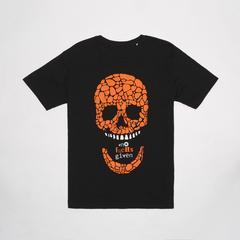 莱切斯特城足球俱乐部 #nofucHsgiven NFG Style Skull T恤衫男 骷髅图案 Size S (小号)
