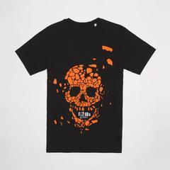莱切斯特城足球俱乐部 #nofucHsgiven Style Exploding Skull T恤衫 骷髅图案 Size S (小号)