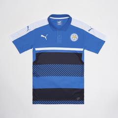 莱切斯特城足球俱乐部 European Adults Polo 短袖足球训练服POLO衫 深蓝色 Size S (小号)