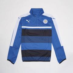 莱切斯特城足球俱乐部 European Adults Training 1/4拉链长袖足球训练服套头衫 深蓝色 Size S (小号)