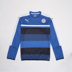 莱切斯特城足球俱乐部  European Adults Training Sweatshirt 长袖足球训练服套头衫 深蓝色 Size S (小号)