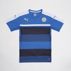 莱切斯特城足球俱乐部 European Adults T-Shirt 短袖t恤 足球训练服 深蓝色 Size S (小号)