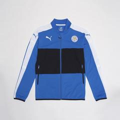 莱切斯特城足球俱乐部 European Adults Walk Out Jacket 足球训练服外套  深蓝色 Size S (小号)