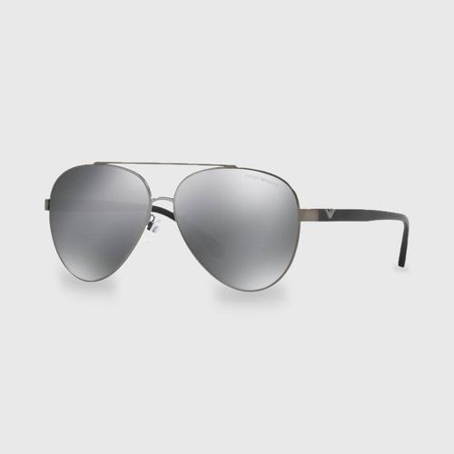 阿玛尼Matte Gunmetal男士太阳眼镜 0EA2046D 30036R (62毫米)