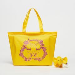泰国王权免税店Moment 折叠式托特包(带小象口袋)—黄色