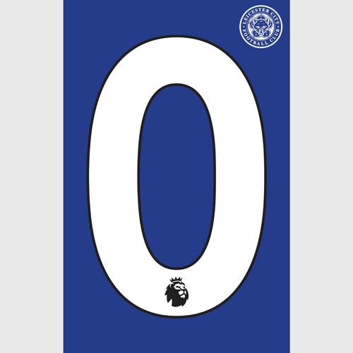 Leicester City Football Club White Number - 0