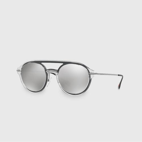 普拉达 (PRADA)  SPORT Grey Round Men Sunglasses 0PS 05TS MQG2B0 (51 MM)