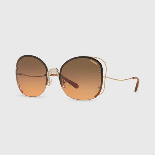 COACH butterfly shape Women Sunglasses 0Hc7081 929218 (58mm.)