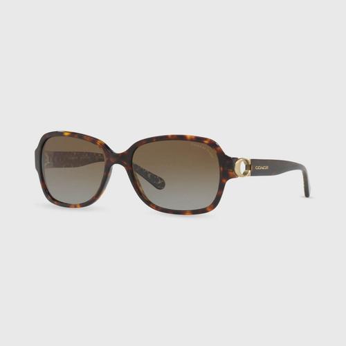 COACH Dark Tortoise Acetate Women Sunglasses 0Hc8241F 5507T5 (57mm.),,