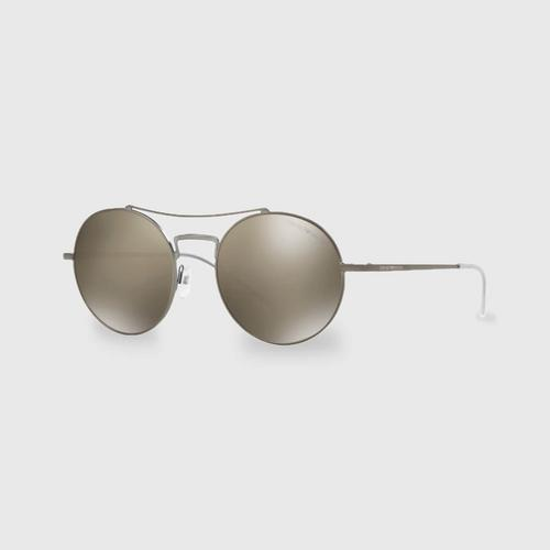 阿玛尼Matte Gunmetal男士太阳眼镜 0EA2061 30035A(52毫米)