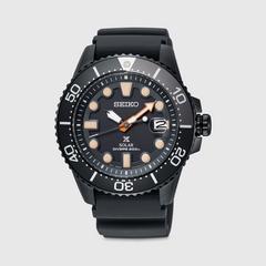 精工(SEIKO) PROSPEX SOLAR DIVER 黑色系列潜水表 43.5 毫米 (黑盘)