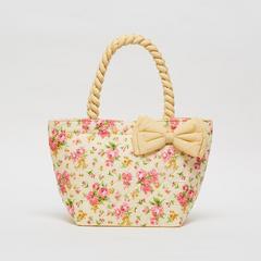 AIYA手袋,花朵图案搭配黄色蝴蝶结