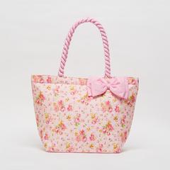 AIYA手袋,花朵图案搭配粉色蝴蝶结