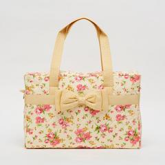 AIYA手袋,花朵图案搭配黄色蝴蝶结(方形)