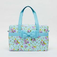 AIYA手袋,花朵图案搭配蓝色蝴蝶结(方形)