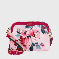 Cath Kidston Aster Cross Body Paintbox Flowers Soft Pink