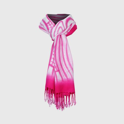 BAI MONE - Crystal Ball Khit Scarf  Pink Size: 45 x 180 cm.