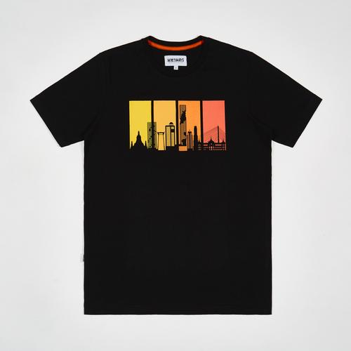MAHANAKHON T-Shirt Bangkok City Sunset Black Size S