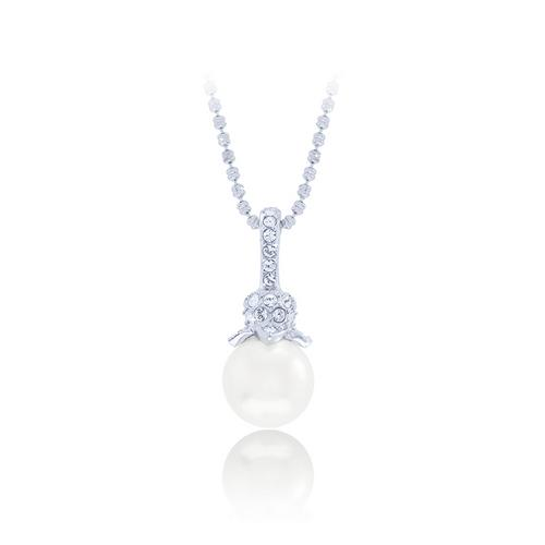 12VICTORY Cream Pearl Necklace