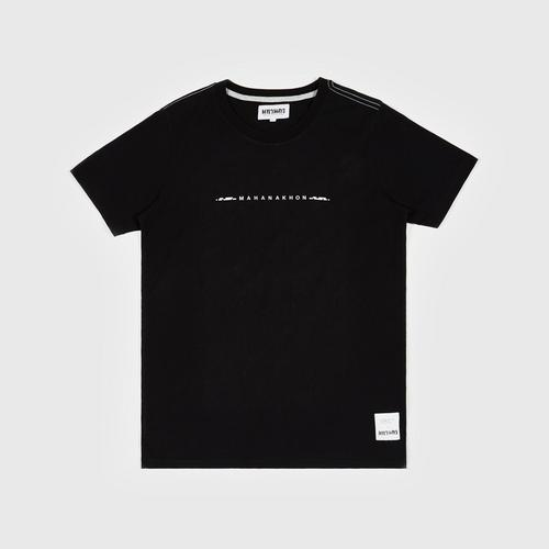MAHANAKHON 黑色T-恤 XL码 Typo T-shirt