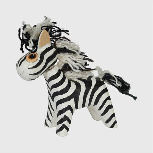 MR.THOW WOOD CRAFT DOLLS. OTOP Hand painted wood zebra size s