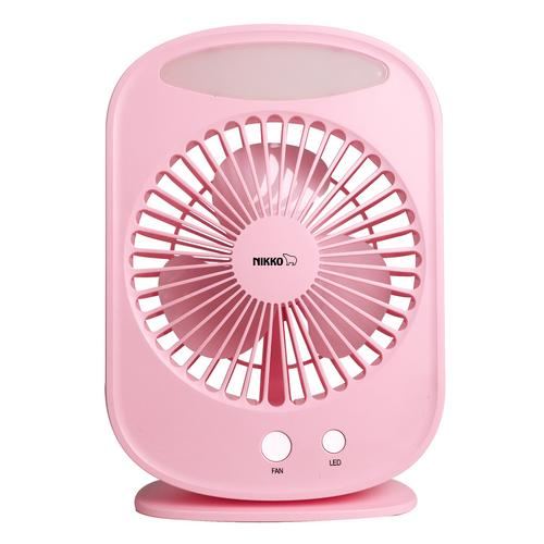 Nikko Portable Mini Fan  with Lamp L-2895 Pink