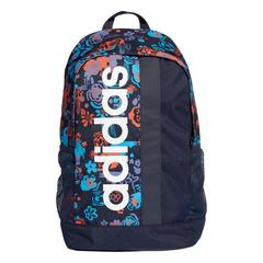 ADIDAS LINEAR CORE GRAPHIC BACKPACK -LEGEND INK / SHOCK CYAN / WHITE
