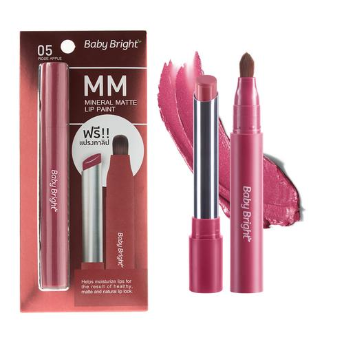 BABY BRIGHT MM Mineral Matte Lip Paint 2g #05 Rose Apple