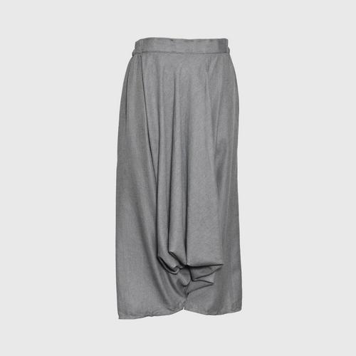 TAYWA - Hand woven cotton pants Free size Dull gray