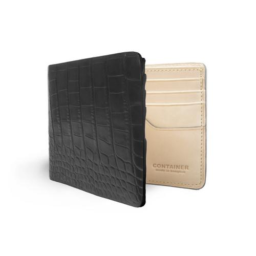 CONTAINER Wallet Bifold Embossed Crocodile - Black