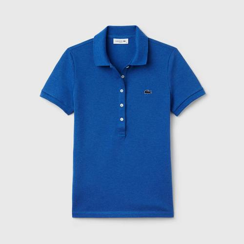 LACOSTE Women's Lacoste Slim Fit Stretch Mini Cotton Piqué Polo Shirt EUY - Size 34